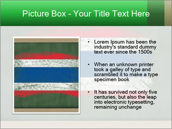 Chalky national flag PowerPoint Template - Slide 13