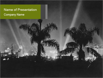 Hollywood PowerPoint Template - Slide 1