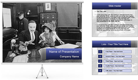 Transfixed PowerPoint Template