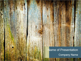 Wood planks PowerPoint Template