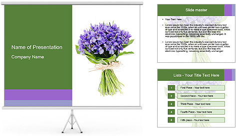 Flowers iris PowerPoint Template