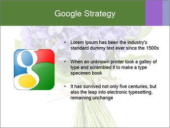 Flowers iris PowerPoint Template - Slide 10