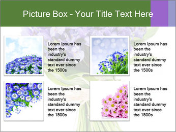 Flowers iris PowerPoint Template - Slide 14