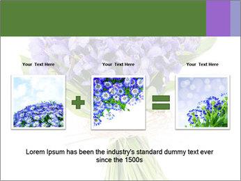 Flowers iris PowerPoint Template - Slide 22