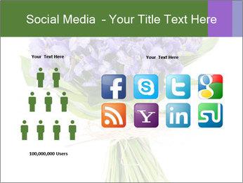 Flowers iris PowerPoint Template - Slide 5