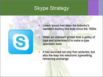 Flowers iris PowerPoint Template - Slide 8