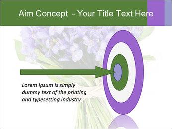 Flowers iris PowerPoint Template - Slide 83