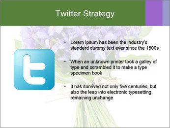 Flowers iris PowerPoint Template - Slide 9