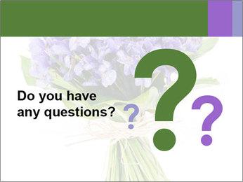 Flowers iris PowerPoint Template - Slide 96