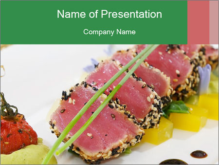 Tuna fillet PowerPoint Template