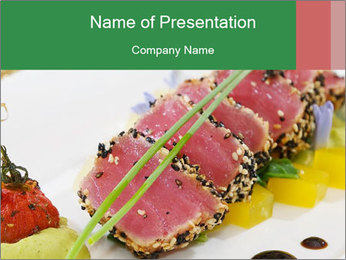 Tuna fillet PowerPoint Template - Slide 1