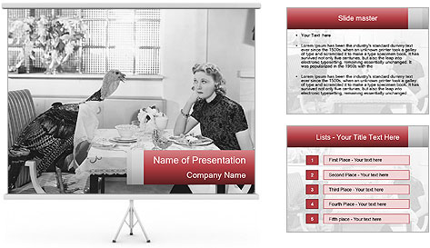 Woman eating meal PowerPoint Template