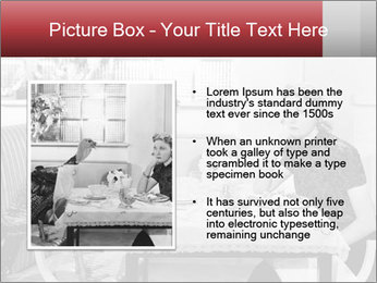 Woman eating meal PowerPoint Template - Slide 13
