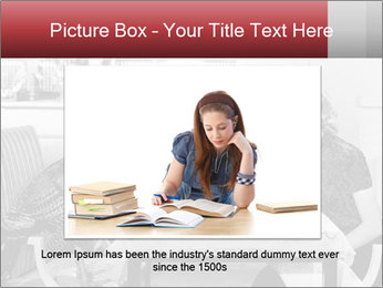 Woman eating meal PowerPoint Template - Slide 15