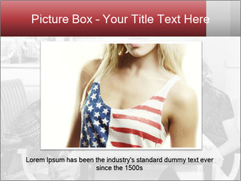 Woman eating meal PowerPoint Template - Slide 16