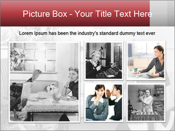 Woman eating meal PowerPoint Template - Slide 19