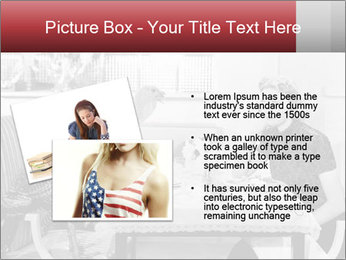 Woman eating meal PowerPoint Template - Slide 20