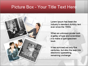 Woman eating meal PowerPoint Template - Slide 23