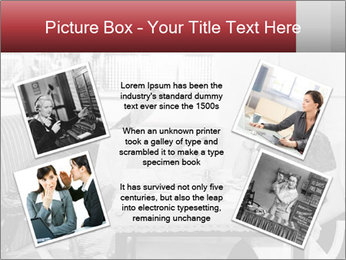 Woman eating meal PowerPoint Template - Slide 24