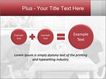 Woman eating meal PowerPoint Template - Slide 75