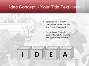 Woman eating meal PowerPoint Template - Slide 80
