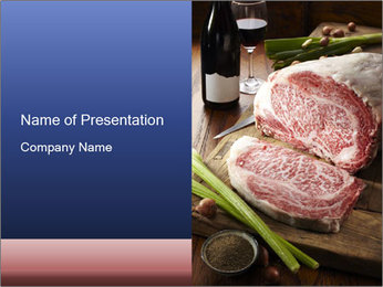 Beef PowerPoint Template - Slide 1