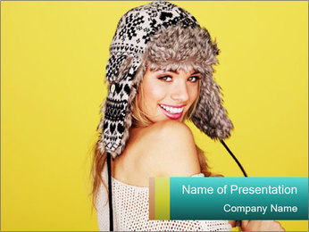 Winter hat PowerPoint Template