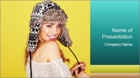 Winter hat PowerPoint Template