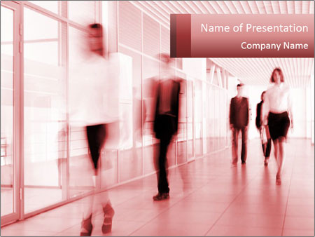 Business people walking PowerPoint Templates