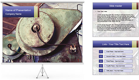 Old industrial PowerPoint Template