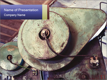 Old industrial PowerPoint Template - Slide 1