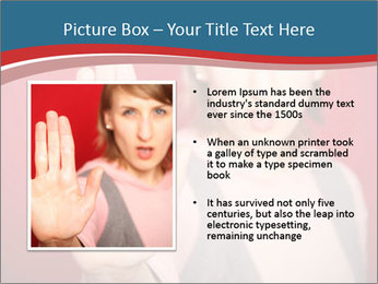 Woman in front PowerPoint Template - Slide 13