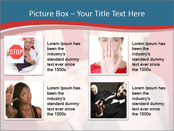 Woman in front PowerPoint Template - Slide 14
