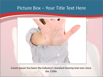Woman in front PowerPoint Template - Slide 15