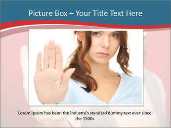 Woman in front PowerPoint Template - Slide 16