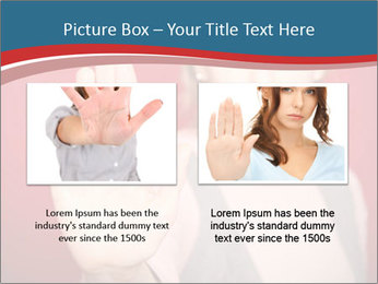 Woman in front PowerPoint Template - Slide 18