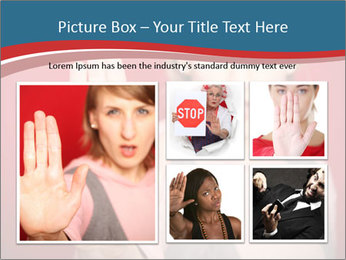 Woman in front PowerPoint Template - Slide 19