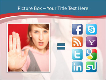 Woman in front PowerPoint Template - Slide 21