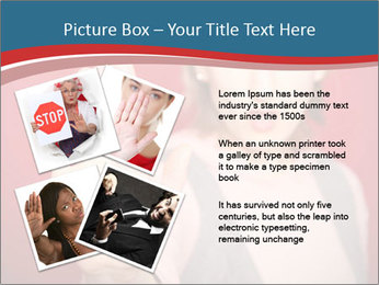 Woman in front PowerPoint Template - Slide 23