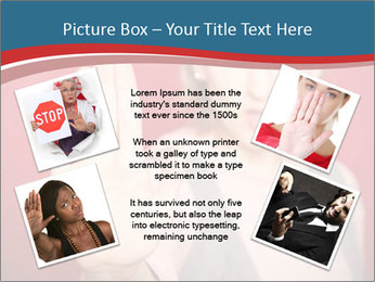 Woman in front PowerPoint Template - Slide 24