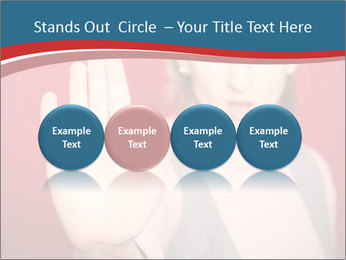 Woman in front PowerPoint Template - Slide 76