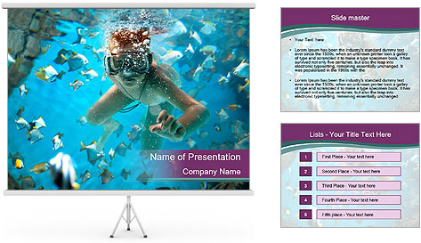 Brain coral PowerPoint Template