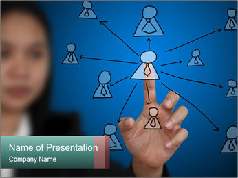 Business Woman PowerPoint Template - Slide 1