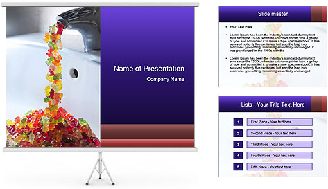 Jelly bears PowerPoint Template