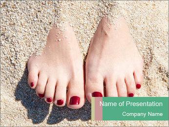 Female feet PowerPoint Template - Slide 1