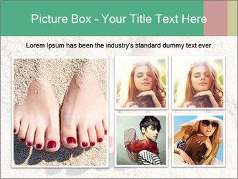 Female feet PowerPoint Template - Slide 19