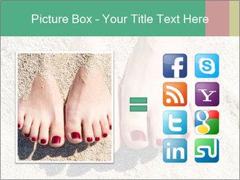Female feet PowerPoint Template - Slide 21