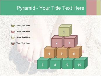 Female feet PowerPoint Template - Slide 31