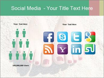 Female feet PowerPoint Template - Slide 5