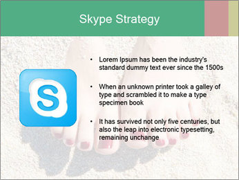 Female feet PowerPoint Template - Slide 8